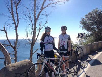 Kayleigh and Lucy Triathlon Training