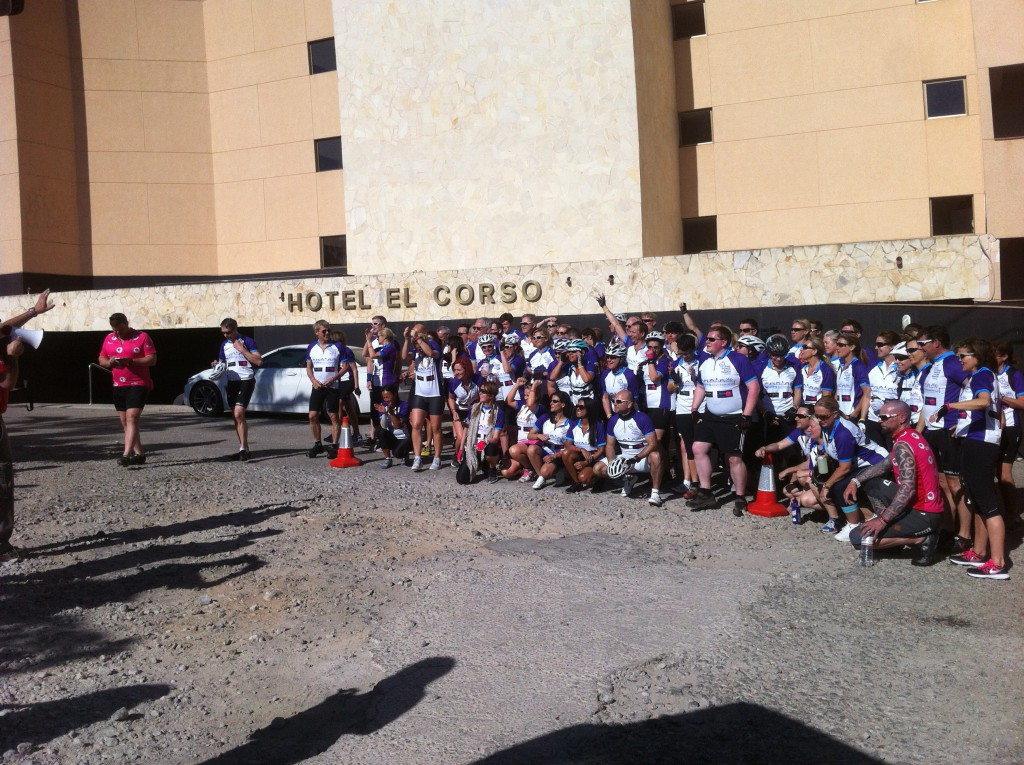 Riders from the Great Ormond Street Hospital Challenge 2015 !