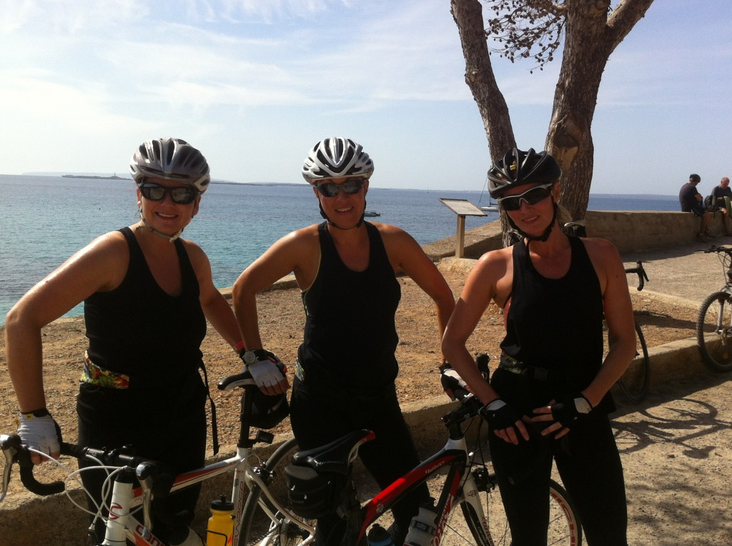 The Girls from T-Wells soaking up the sun in Salines