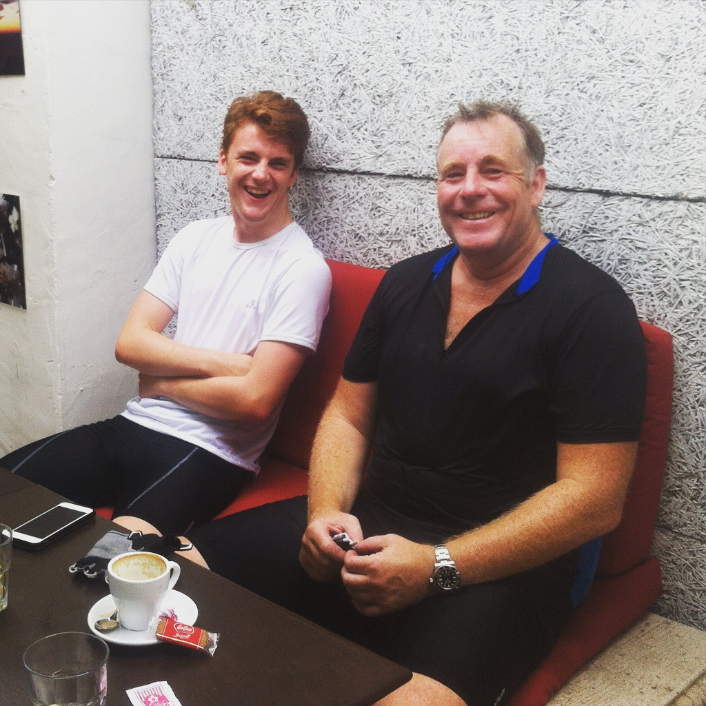 Dutch Michelin starred super chef Ron Blauw and his son ! Enjoyed a great 5 days on the bike
