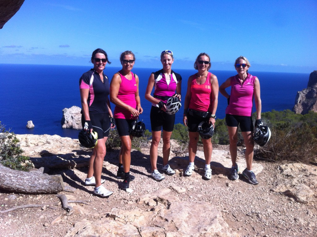 Anne and the girls came over in late September for a long weekend of riding and revelry
